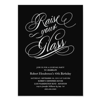 Modern Multi-Purpose Raise Your Glass Invitations