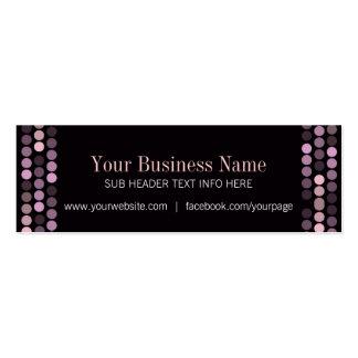 Modern Pink+Black Mini Business Cards