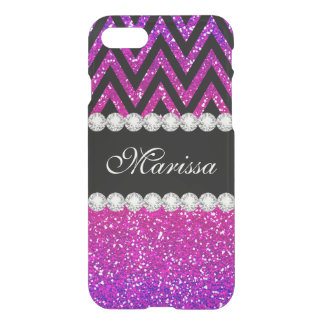 Modern Pink Purple Glitter Cool Clearly™ iPhone 7 Case