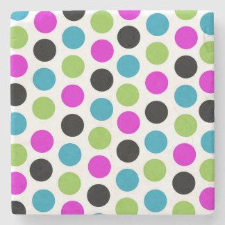 Modern Polka Dots Coaster Stone Coaster