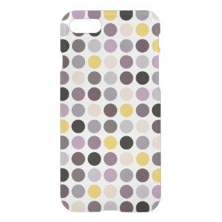 Modern purple yellow polka dots pattern monogram iPhone 7 case
