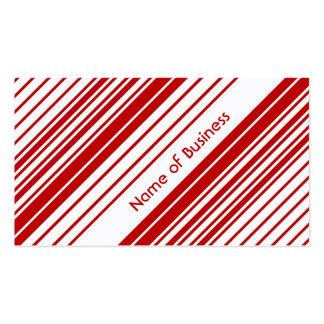 Modern Red and White Peppermint Candy Stripes Pack Of Standard Business Cards