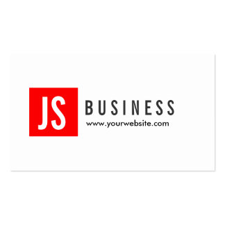 Modern Red Logo Program Director Business Card