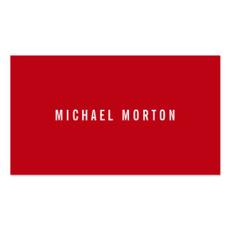 Modern red simple generic professional pack of standard business cards