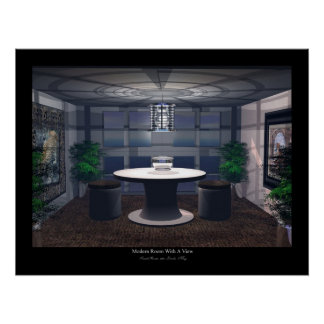 Modern Room With A View Poster