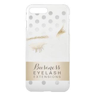Modern Silver & Gold Eyelash Extensions iPhone 7 Plus Case