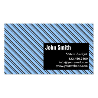 Modern Stripes System Analyst Business Card