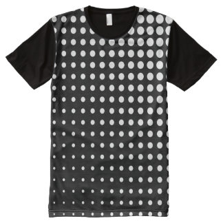 Modern techno shrinking polka dots black and white All-Over print T-Shirt