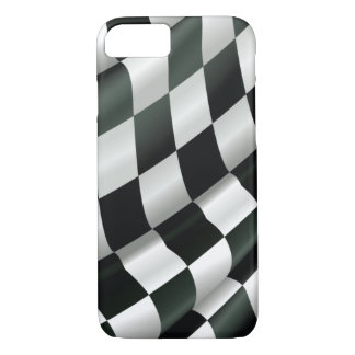 Modern Waving Checkered Flag iPhone 7 Case