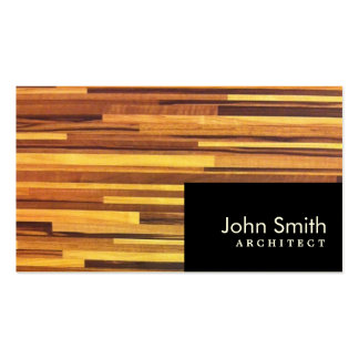 Modern Wood Stripes Architect Business Card