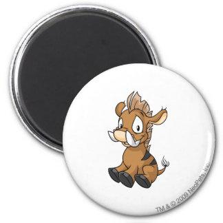 Moehog Brown 6 Cm Round Magnet