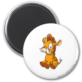 Moehog Orange 6 Cm Round Magnet