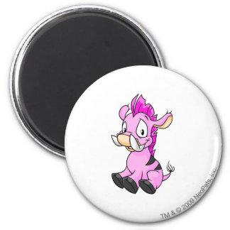 Moehog Pink 6 Cm Round Magnet