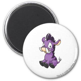 Moehog Purple 6 Cm Round Magnet