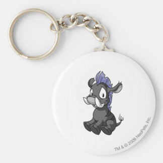 Moehog Shadow Basic Round Button Key Ring