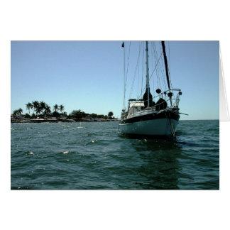 Moira at anchor off Altata, Mexico Greeting Card