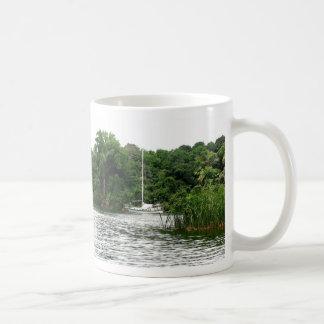 Moira at anchor, Rio Chagres, Panama Basic White Mug