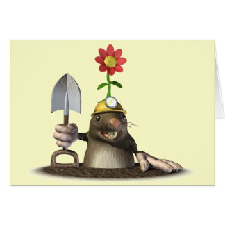 Mole in a Hole Greeting Card