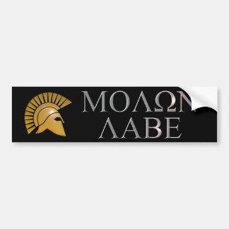Molon Labe Bumper Sticker - choose your color
