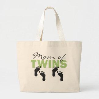 Mom of Twins Jumbo Tote Bag