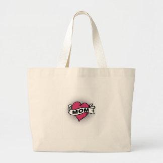 Mom Tattoo Jumbo Tote Bag