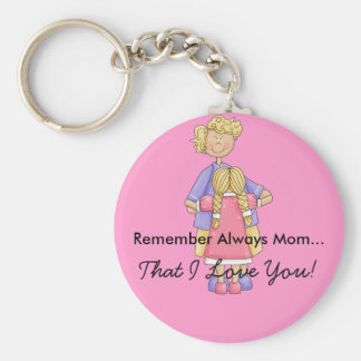 Mom with Daughter Customizable Product Basic Round Button Key Ring