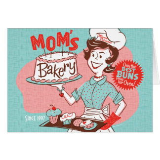 Mom's Bakery Retro Mother's Day Card