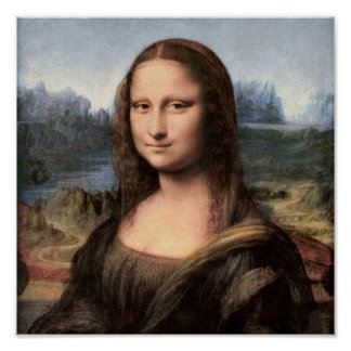 Mona Lisa Portrait / Painting Poster