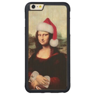Mona Lisa's Christmas Santa Hat Carved® Maple iPhone 6 Plus Bumper Case