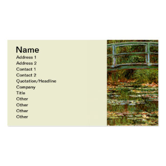 Monet French Japanese Bridge Impressionist Pack Of Standard Business Cards
