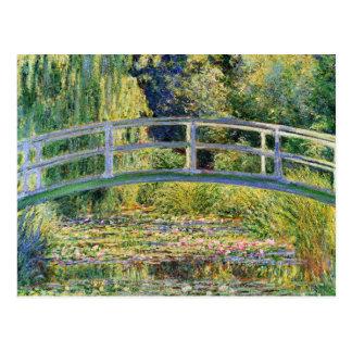 Monet Japanese Bridge with Water Lilies Postcard