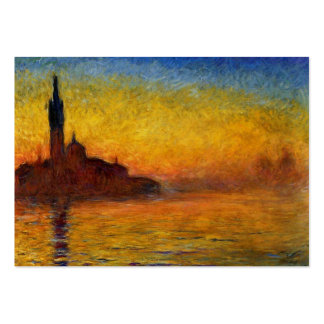Monet Sunset in Venice Impressionist Painting Pack Of Chubby Business Cards