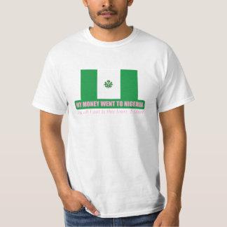 Money tourism tee shirts