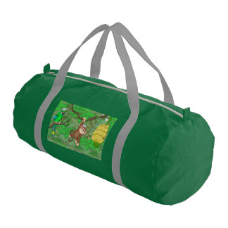 Monkey, Jungle Duffle, overnight, Travel Bag Gym Duffel Bag