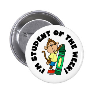 Monkey Student of the Week 6 Cm Round Badge