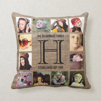 Monogram Modern Family 12 Instagram Photos Cushions