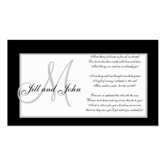 Monogram Wedding Wishing Well Cards Pack Of Standard Business Cards