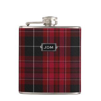 Monogramed Pride of Wales Tartan Plaid Flask