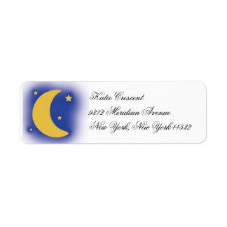 Moon and Stars Return Address Labels