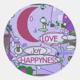 Moon Joy Round Sticker