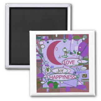 Moon Joy Square Magnet