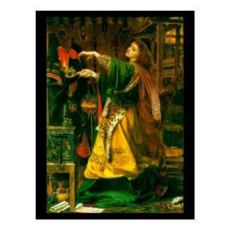Morgan Le Fay ~ Sandys 1864 Fine Art Painting Postcard
