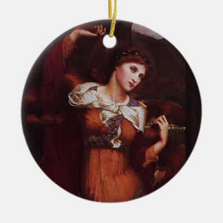 Morgana le Fay (Morgan Pendragon) Round Ceramic Decoration