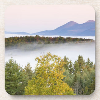 Morning fog and the Percy Peaks as seen from the Beverage Coasters