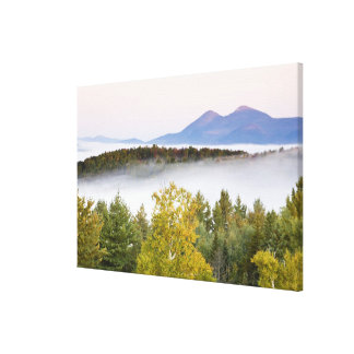 Morning fog and the Percy Peaks as seen from the Canvas Prints