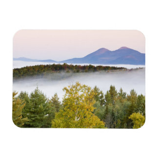 Morning fog and the Percy Peaks as seen from the Rectangular Photo Magnet