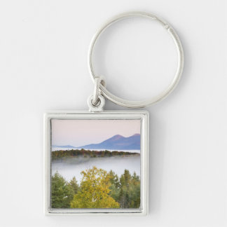 Morning fog and the Percy Peaks as seen from the Silver-Colored Square Key Ring