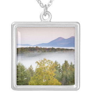 Morning fog and the Percy Peaks as seen from the Square Pendant Necklace