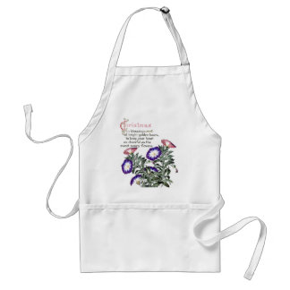 Morning Glory Flowers Floral Christmas Apron
