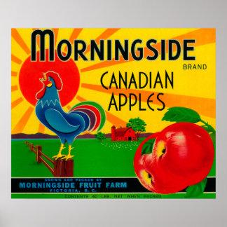 Morningside Apple LabelCanada Poster